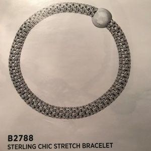 Silpada Sterling Chic Stretch Bracelet